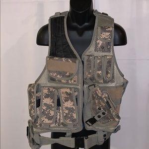 Camouflage tactical vest LxL adjustable